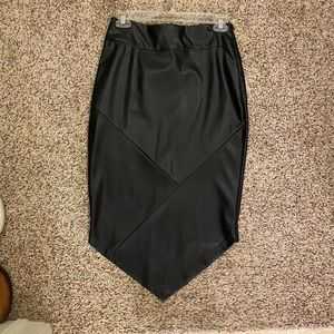 Mink pink faux leather skirt size small